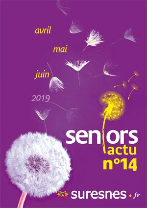 Couverture du Seniors actu d'avril à juin 2019.