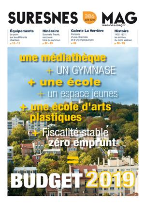 Couverture du Suresnes magazine d'avril 2019.