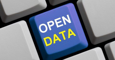 Touche de clavier d'ordinateur où il est écrit open data.