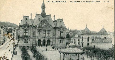 Carte postale ancienne représentant l'hôtel de ville.