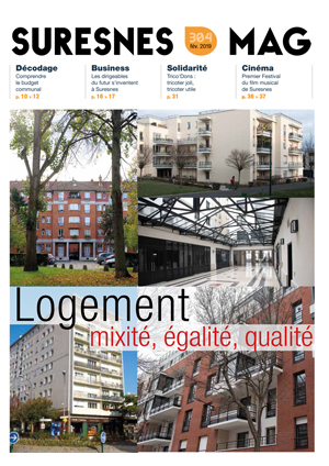 Couverture du Suresnes magazine de février 2019.