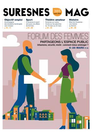 Couverture du Suresnes magazine de mars 2019.