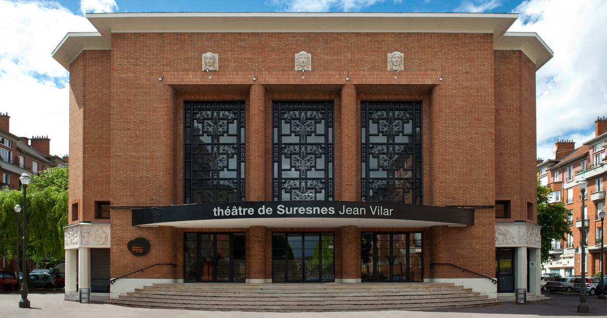 Façade du théâtre de Suresnes Jean Vilar.