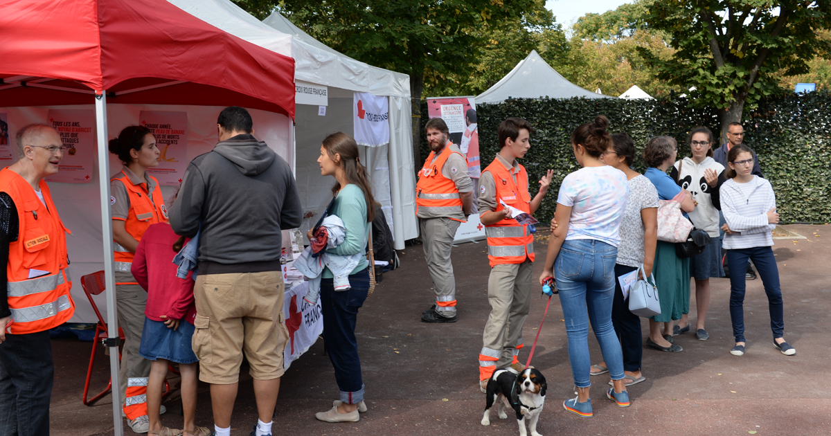 Le stand de la Croix-rouge lors du forum des associations.