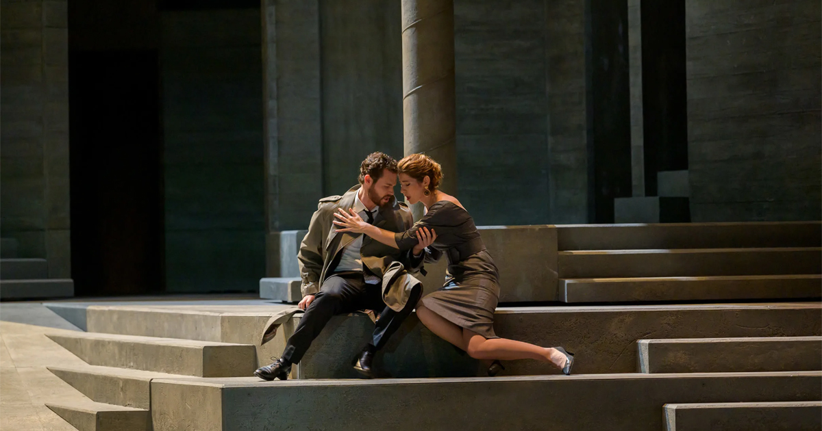 Scène de couple de l'opéra Don Giovanni