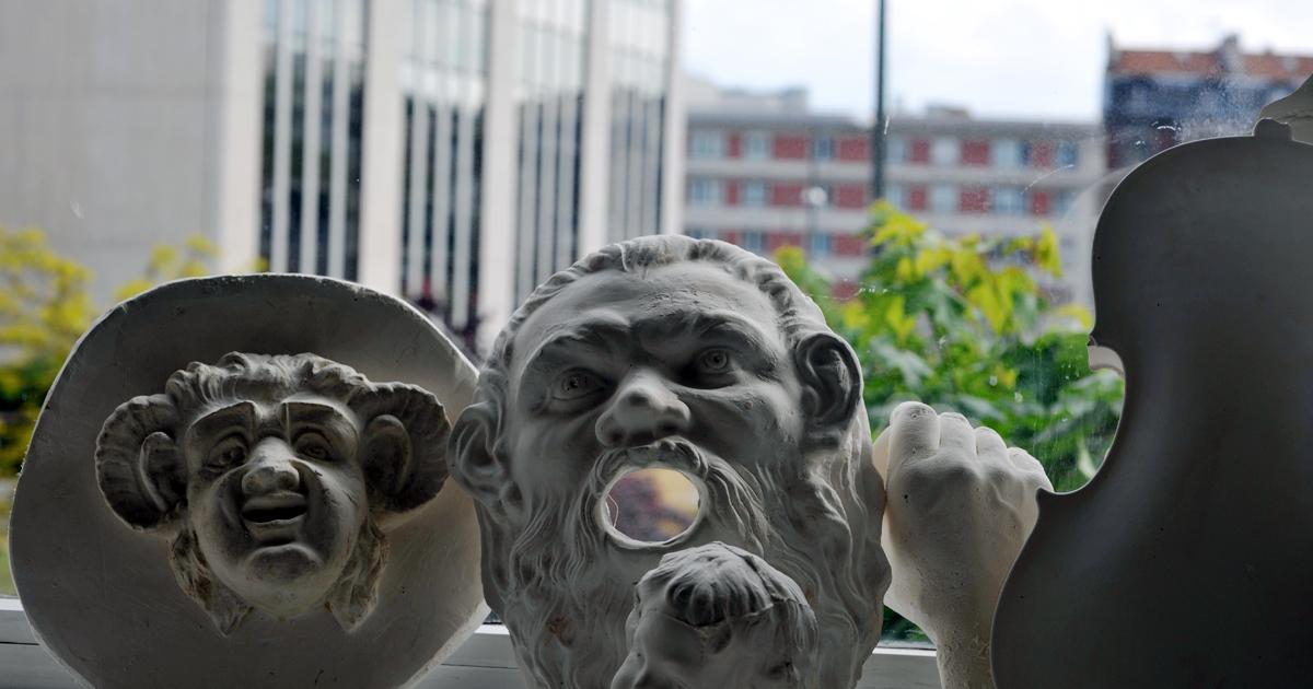 Photo de moulages de l'école d'arts plastiques
