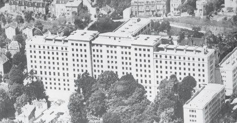 Ancienne photo aérienne de l'hôpital Foch