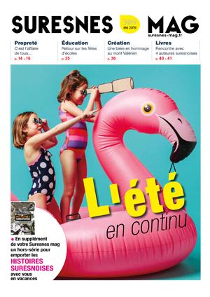 Couverture du Suresnes magazine de l'été 2019.