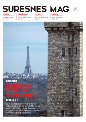 Couverture du Suresnes magazine d'avril 2017.