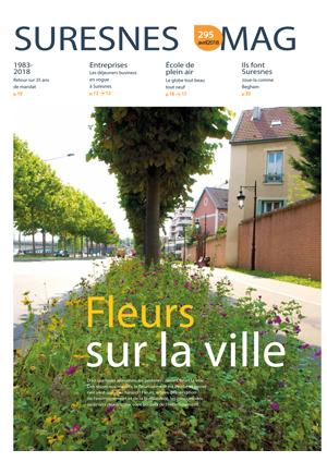 Couverture du Suresnes magazine d'avril 2018.