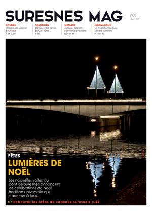 Couverture du Suresnes magazine de décembre 2017.