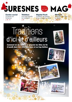 Couverture du Suresnes magazine de décembre 2018.