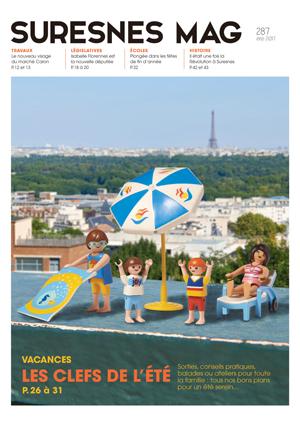 Couverture du Suresnes magazine de l'été 2017.