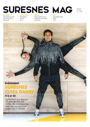 Couverture du Suresnes magazine de février 2018.