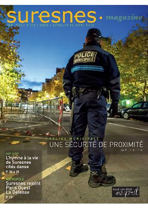 Couverture du Suresnes magazine de janvier 2016.
