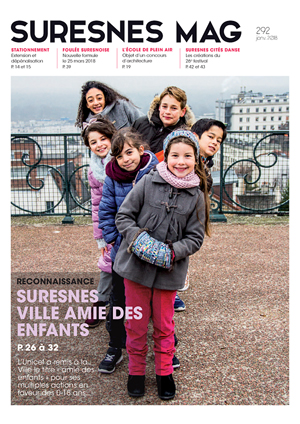 Couverture du Suresnes magazine de janvier 2018.