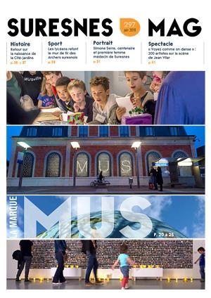 Couverture du Suresnes magazine de juin 2018.