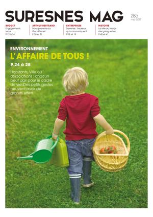 Couverture du Suresnes magazine de mai 2017.