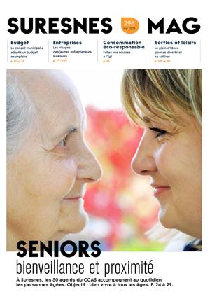 Couverture du Suresnes magazine de mai 2018.