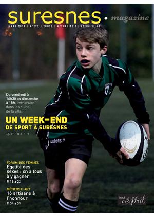 Couverture du Suresnes magazine de mars 2016.