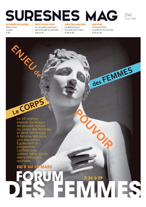 Couverture du Suresnes magazine de mars 2018.