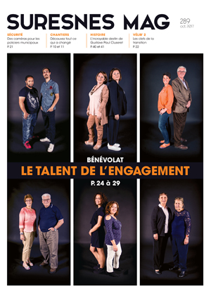 Couverture du Suresnes magazine d'octobre 2017.