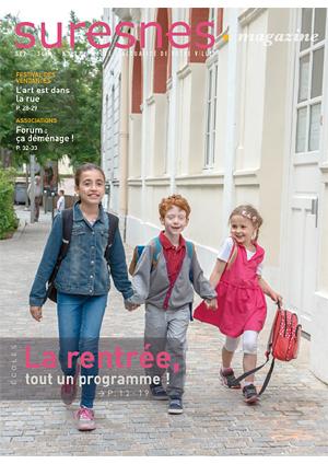 Couverture du Suresnes magazine de septembre 2016.