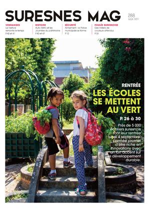 Couverture du Suresnes magazine de septembre 2017.