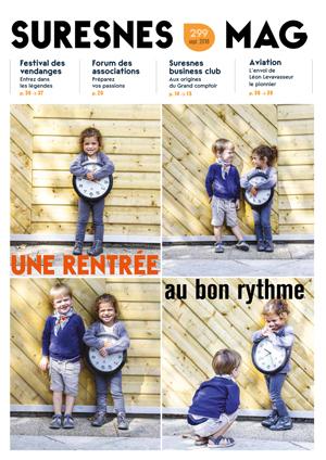 Couverture du Suresnes magazine de septembre 2018.