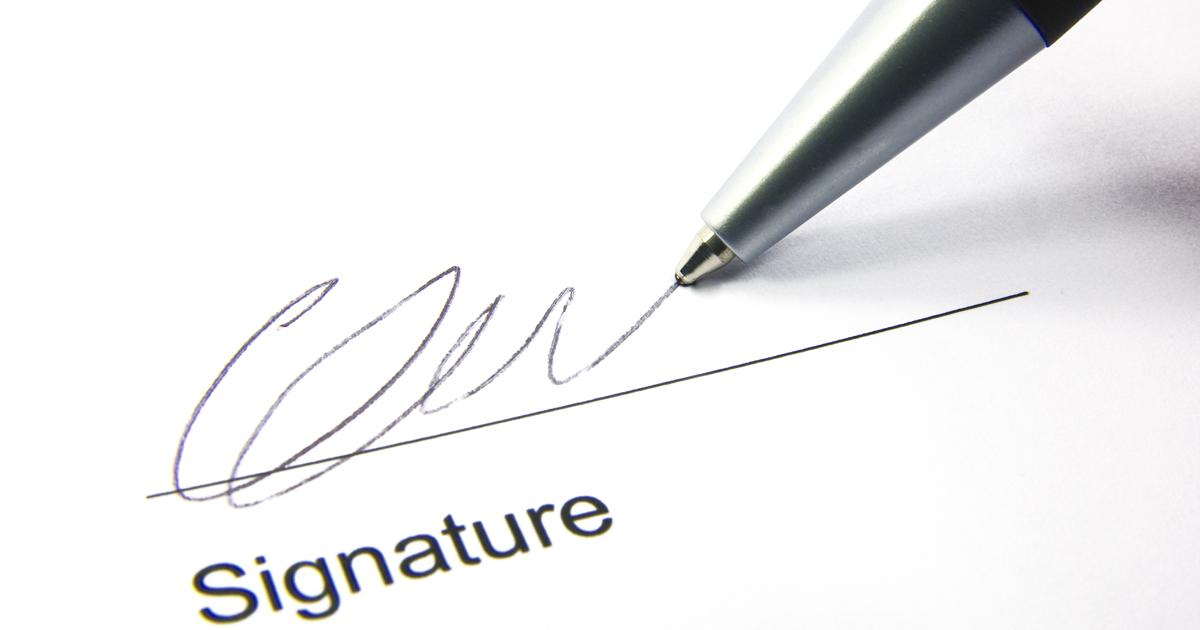 Exemple de signature.