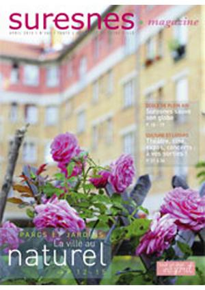 Couverture du Suresnes magazine d'avril 2015.