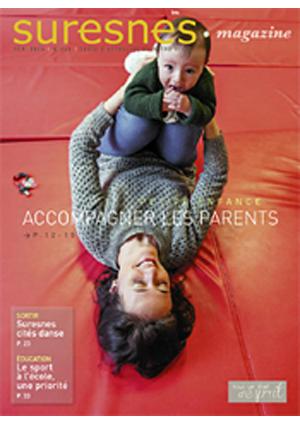 Couverture du Suresnes magazine de février 2015.