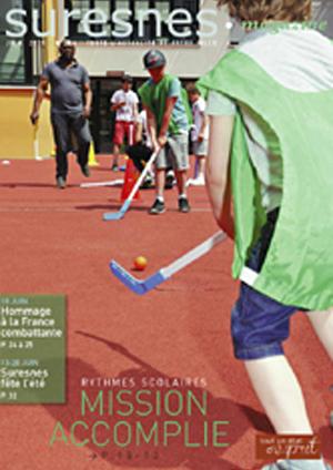 Couverture du Suresnes magazine de juin 2015.