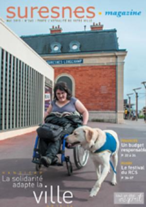 Couverture du Suresnes magazine de mai 2015.