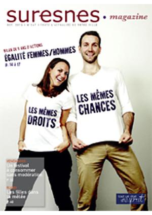 Couverture du Suresnes magazine d'octobre 2015.