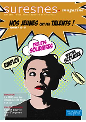 Couverture du Suresnes magazine de septembre 2015.