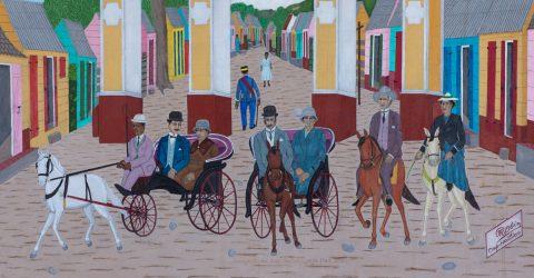 Philomé Obin , La bourgeoisie du Cap-Haïtien en promenade - 1967