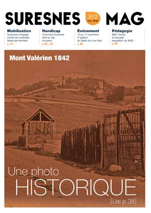 Couverture du Suresnes magazine de novembre 2019.