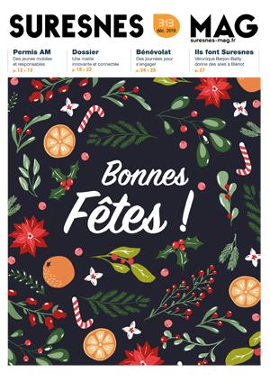 Couverture du Suresnes magazine de décembre 2019.