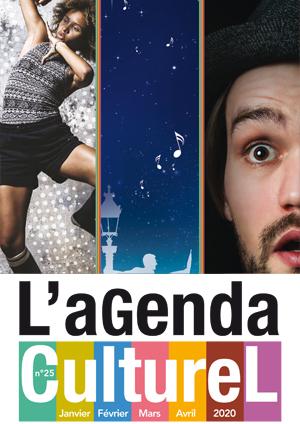 Couverture de l'agenda culturel de janvier à avril 2020.