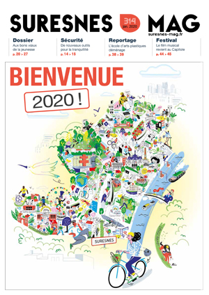 Couverture du Suresnes magazine de janvier 2020.