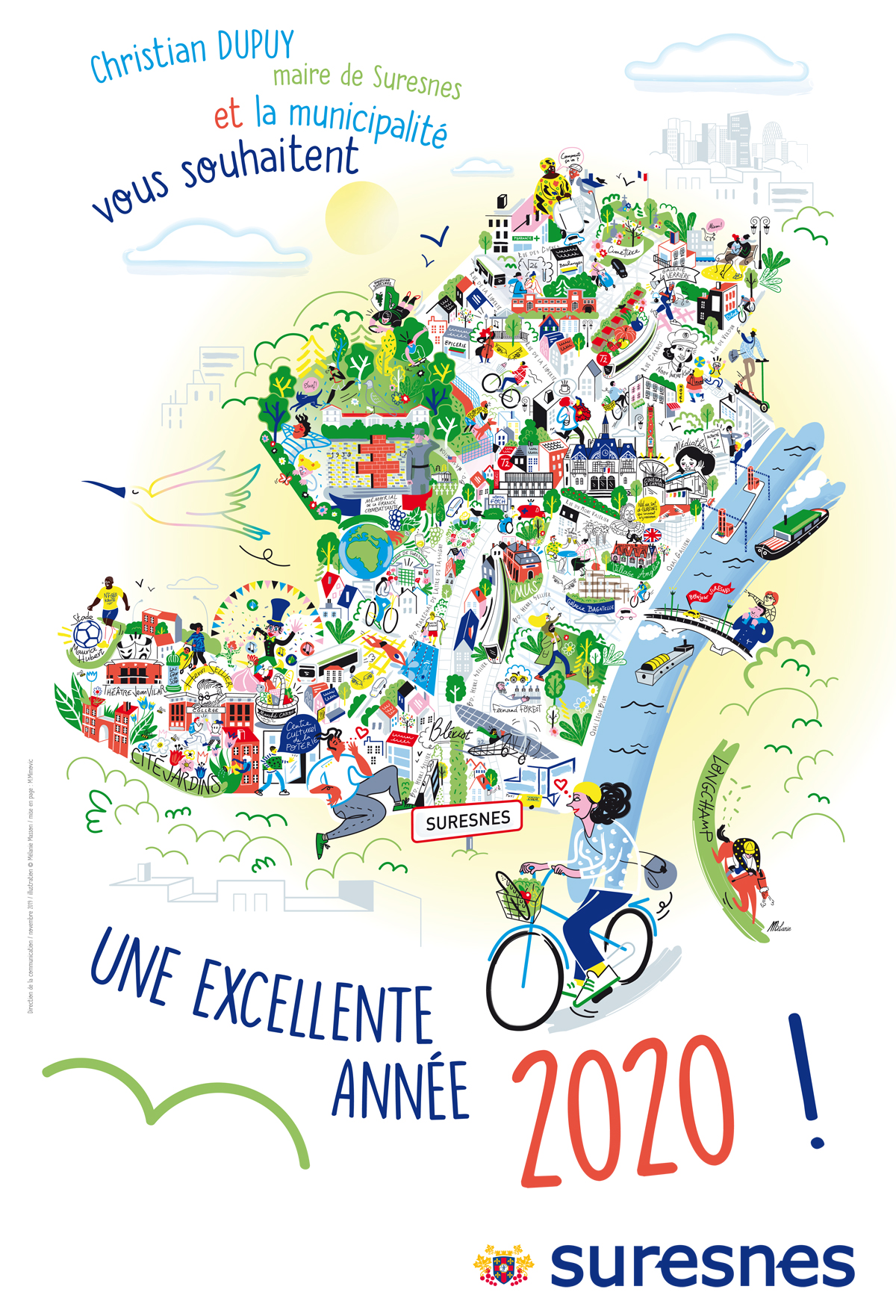 Affiche des vœux 2020 - illustration de Mélanie Masson