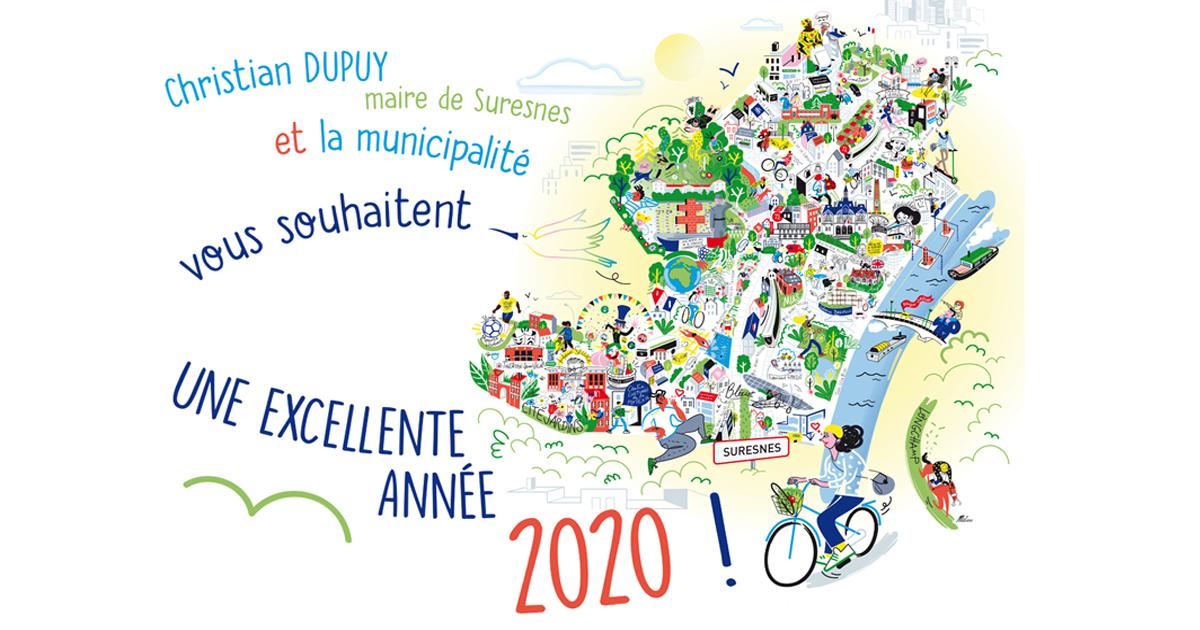 Image de présentation de la vidéo des vœux 2020.