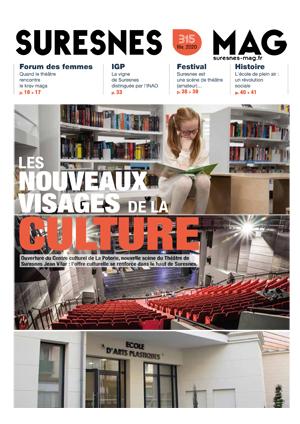 Couverture du Suresnes magazine de février 2020.