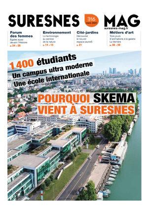 Couverture du Suresnes magazine de mars 2020.