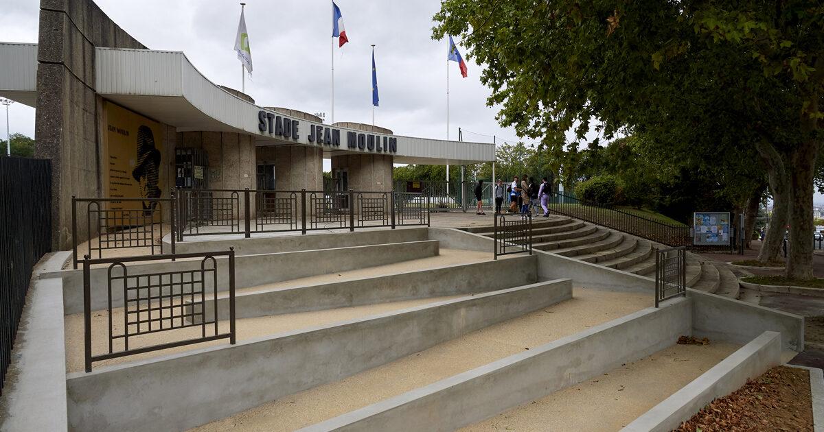 Visite des chantiers_Stade Jean Moulin